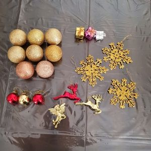 20 pc Gold Metallic Ornament Bundle